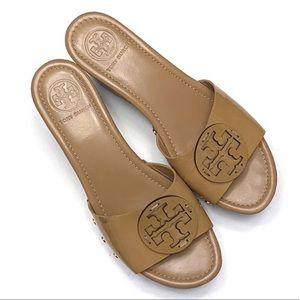 Tory Burch Patent Leather Patti Wedge Sandal